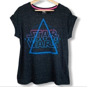 Star Wars Static Graphic Rolled Sleeves T Shirt
